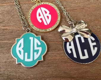 Monogrammed Necklace: Gold or Silver