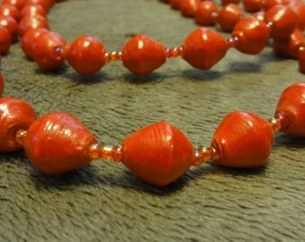 Red Ugandan Beaded Necklace - Adoption Support