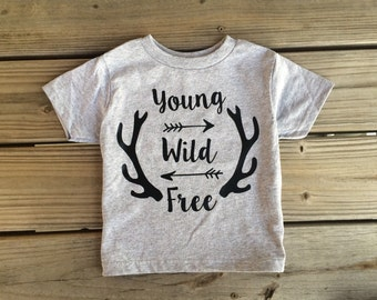 Young, Wild, and Free boys shirt