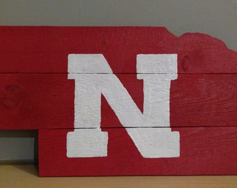 Nebraska Cornhuskers wood signs