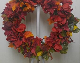 Red fall wreath