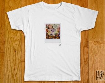 T-Shirt Polaroid - Rainbow Umbrellas