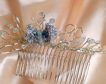 A Butterfly hair comb