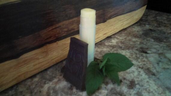 Peppermint Mocha Lip Balm/Beeswax/Cocoa Butter/Shea Butter/Virgin Coconut Oil/ Sweet Almond Oil