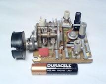 """Vintage Russian Air Variable Capacitor 2x(2.2-16pF) HAM RADIO. VHF Tuner from Soviet radio """" Ocean 209"""""""