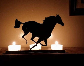 Horse Steel Candle Holder