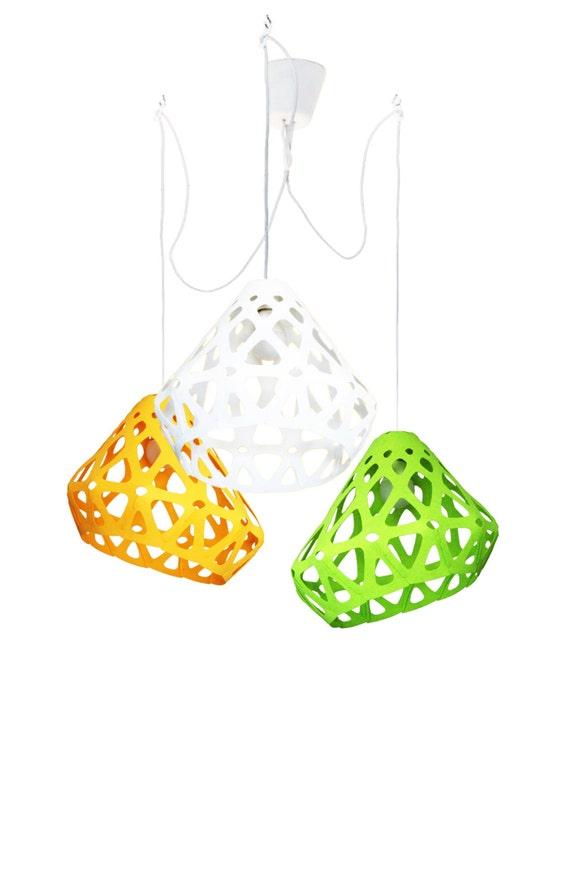 zaha light tricolour triple futuristic ceiling chandelier with bionic avant garde form modern avant ceiling avant garde