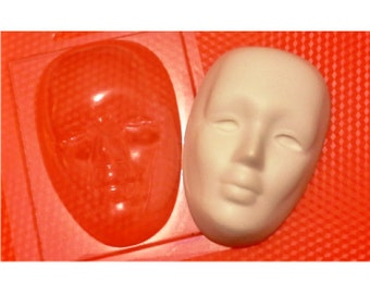 Mask face mold, plastic mold with face, facemask mold, mold for bath bombs, soap mold, human mold, chocolate mold, ethnic face mold