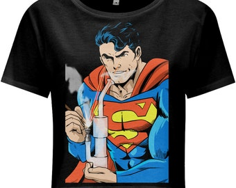 Superman Dab Edition Women's Crop Top by Count Dabula Clothing