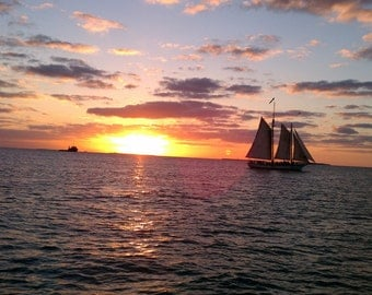 Florida Keys Sunset at Mallory Square in Key West