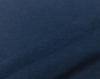 Supima Cotton Jersey Knit Fabric - Lightweight -  (Wholesale Price Available By the Bolt) USA Made Premium - 3280SU Navy - 1 Yard