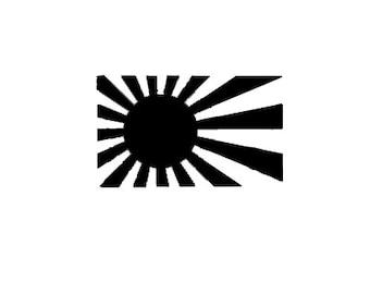 Rising Sun Vinyl Decal