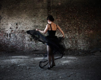 Woman dancing in an abandoned building / Woman dancing in an abandoned building