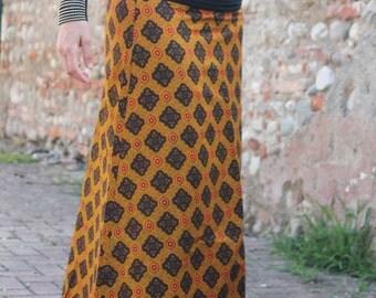 African cotton long skirt