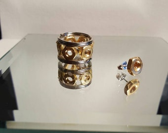 DareByKionde #ForHim collection ring and earring set