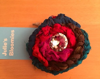 Flower pin vintage shabby chic by julies bloomies