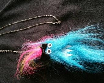Fuzzy Friend Necklace