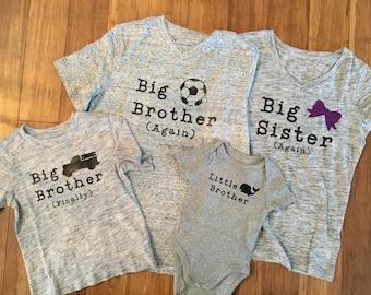 Big brother/sister custom shirts made to order