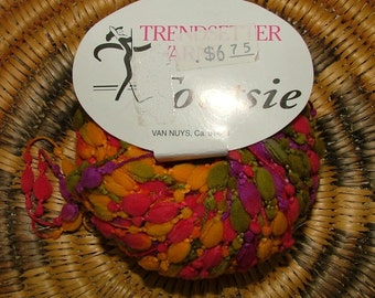 Trendsetter Yarns Tootsie Made in Italy Color No 961 Lot No 45237 Flower Power Crochet Knit