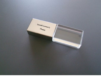 Custom Printed Etched Personalized Stainless Steel Acrylic USB Thumb Drive 4GB