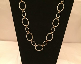 Silver n' Gold Chain Link Necklace/Chain