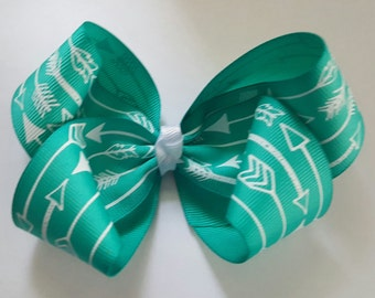 Teal Arrow boutique bow