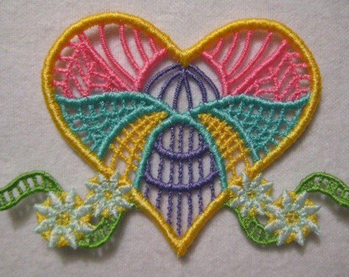 "FSL Beautiful Hearts  ( 10 ""Free Standing Lace"" Machine Embroidery Designs from ATW )"