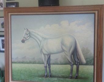 Painting Original Horse White