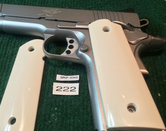 1911 grips,Colt,Kimber,Ruger,Taurus,Sig,Springfield,clones full size,Hard durable classic Ivory faux,fabulous,item # 222
