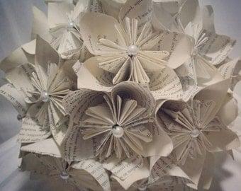 Book bouquet/ paper flower bouquet/ wedding bouquet/ anniversary bouquet