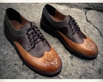Womens Brogues, Oxfords for Women, Leather Shoes, Womens Oxfords, Handmade Shoes