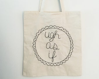 Custom embroidered tote bag