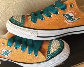 Miami Dolphin Glitter Bling Converse