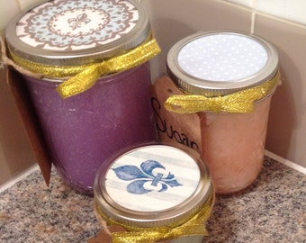 Handmade coconut oil sugar scrub 8pz eight ounces