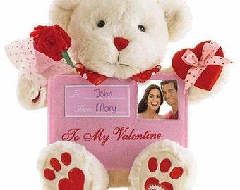 Avon Musical Animated Bear Photo Frame Valentine Graduation Birthday Christams Gift
