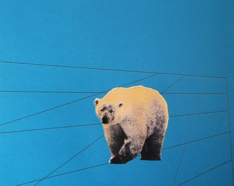 Archival giclee print. Lost and Found I. Polar bear.