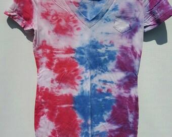 Women's V-neck Tye Dye