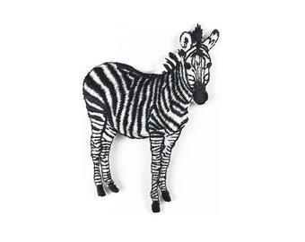 zebra patch Lifelike iron on patch sew on patch embroidered patch animal patch