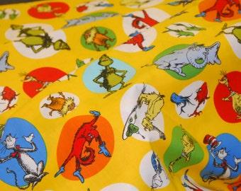 Dr. Seuss Fabric - Celebrate Seuss Robert Kaufman - 100% Quality Cotton by the Yard