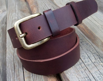 Men's Leather Belt, Buffalo leather belt, Dark brown leather belt, Jeans belt, Rustic belt