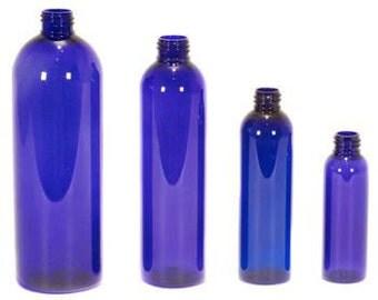 Cobalt Blue Plastic Bottles with Mister or Lotion Pump 8oz/16 oz