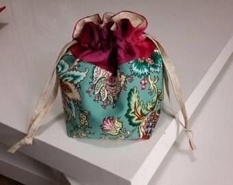 Drawstring Project Bag Medium, Knitting Bag