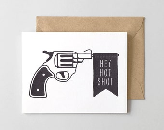 Het Hot Shot Letterpress Greeting Card