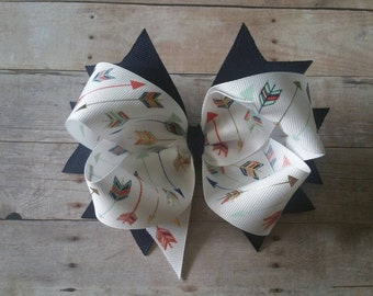Large Arrow Stacked Boutique Hair Bow