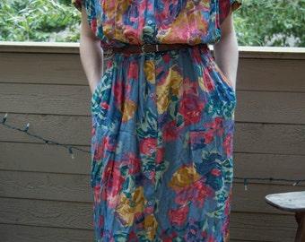 The vintage 80's floral dress