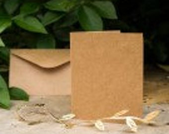 Blank Kraft Cards Pack of 10 Plus Envelopes, Ideal for card makers
