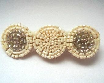 Hair pin, hand beaded hair pin, hair jewelry