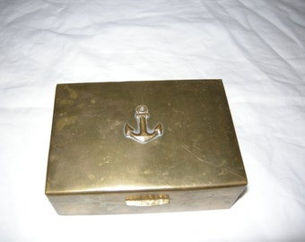 box of Navy brass and precious wood
