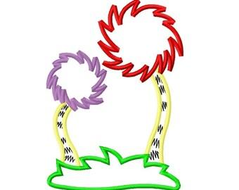 Truffula Tree 2 Applique Embroidery Applique Design 4x4 5x7 6x10 Seuss Lorax INSTANT DOWNLOAD