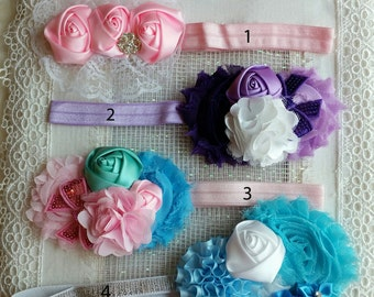 Headbands, Baby Headbands , Reborn Baby Headbands, Baby Girl Shower Gift, Baby Photo Props